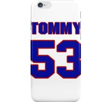 National football player Courtney Hall jersey 53 iPhone Case/Skin