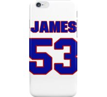 National football player James Holt jersey 53 iPhone Case/Skin