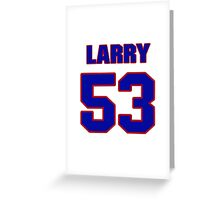 National football player Larry Izzo jersey 53 Greeting Card