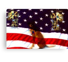 Great Spangled k9 Canvas Print