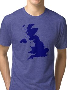 Great Britain Map Tri-blend T-Shirt
