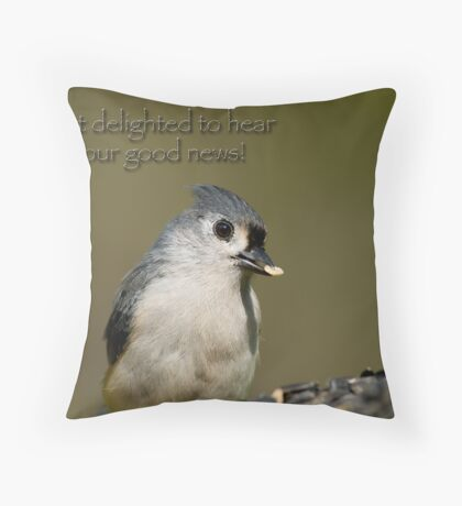 Delighted Throw Pillow