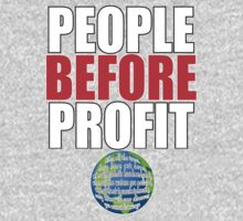 People Before Profit - black One Piece - Long Sleeve
