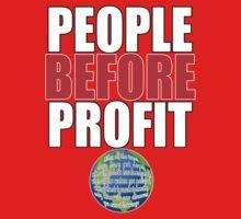 People Before Profit - black Baby Tee