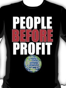 People Before Profit - black T-Shirt