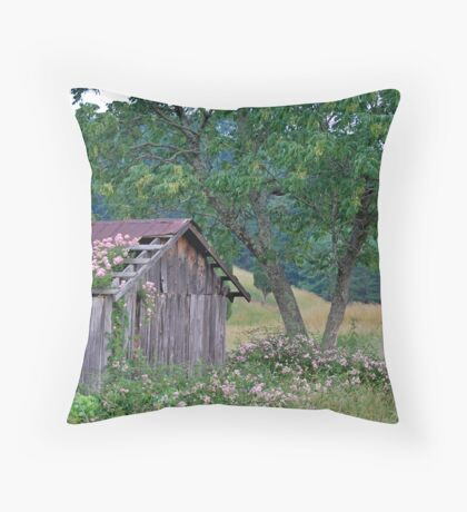 Roses Take Over Throw Pillow