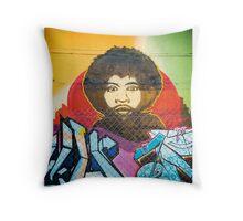 Fitzroy grafitti  Throw Pillow