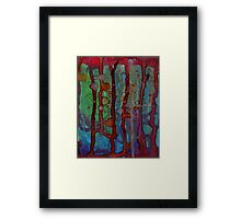 teal blood Framed Print
