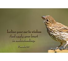 Incline your ear to wisdom . . . Photographic Print