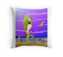 Punked Fish Throw Pillow