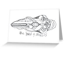 Band of Misfits Ship Concept Art Greeting Card