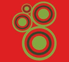 Green circles One Piece - Short Sleeve