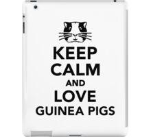 Keep calm and love guinea pigs iPad Case/Skin