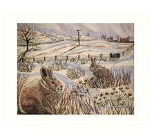 """""""Snow patrol"""" Art Print"""