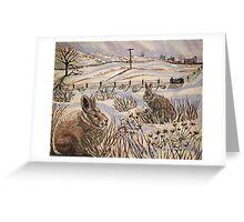 """Snow patrol"" Greeting Card"