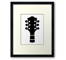 Guitar head Framed Print