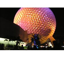 Epcot Ball After Fireworks Photographic Print