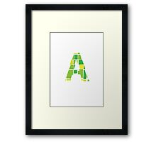 Ablock Green Framed Print