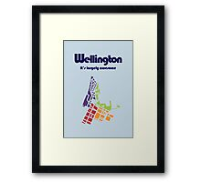 Wellington. It's Largely Awesome Framed Print