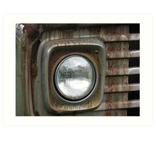 Rusty Headlight Art Print