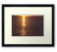 Sunset #1     Vancouver Island  Framed Print