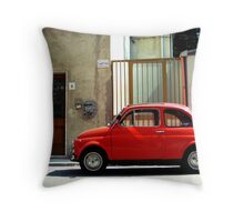 all around me time keeps marching on (colour) Throw Pillow