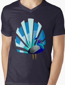 Peacock solo Mens V-Neck T-Shirt
