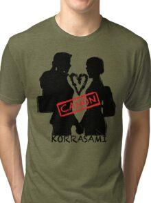 Official Korrasami CANON stamp Tri-blend T-Shirt