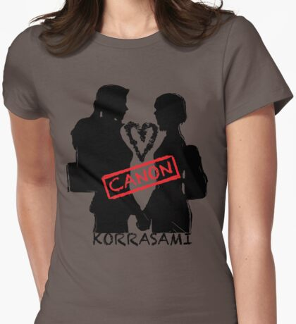 Official Korrasami CANON stamp Womens Fitted T-Shirt