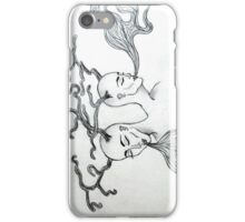 with smoke and antlers iPhone Case/Skin