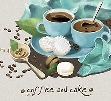Coffee and cake by Hằng Nguyễn