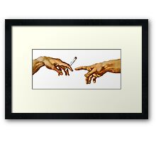 Pass The Blunt Framed Print