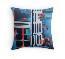 Abstract phone completed... Throw Pillow