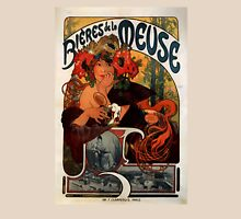 'Bieres de la Meuse' by Alphonse Mucha (Reproduction) Womens Fitted T-Shirt