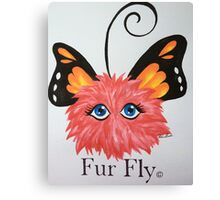Red Fur Fly© with butterfly wings  Canvas Print