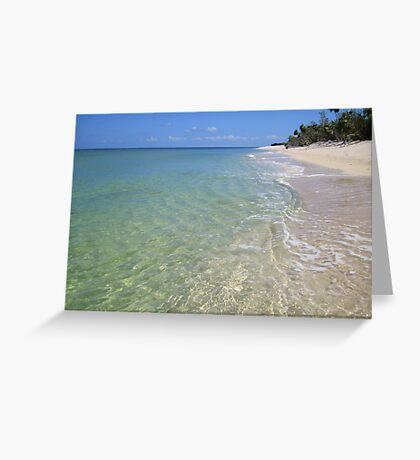 Remote Paradise Greeting Card