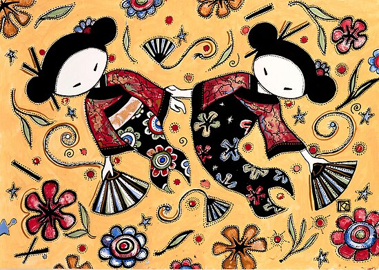 Two Asian Dolls by © Karin Taylor