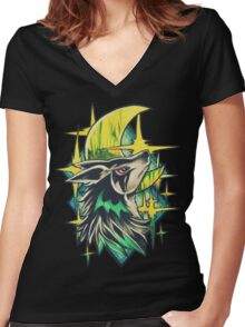 Mightyena Women's Fitted V-Neck T-Shirt