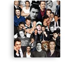 James Franco Collage Canvas Print