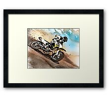 Graphically altered dirt biker  Framed Print