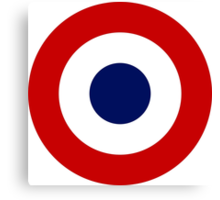 Roundel of the French Air Force Canvas Print