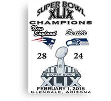 Super Bowl XLIX Champions Canvas Print