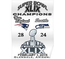 Super Bowl XLIX Champions Poster