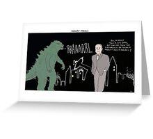Frasier + Godzilla Greeting Card