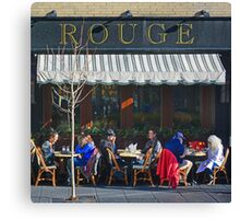 A Red Jacket at Rouge Canvas Print