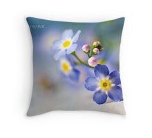 Forget me not.. II Throw Pillow