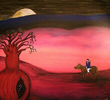 Ned Kelly   (Neds Moonlight Encounter)  Original Sold  by EJCairns