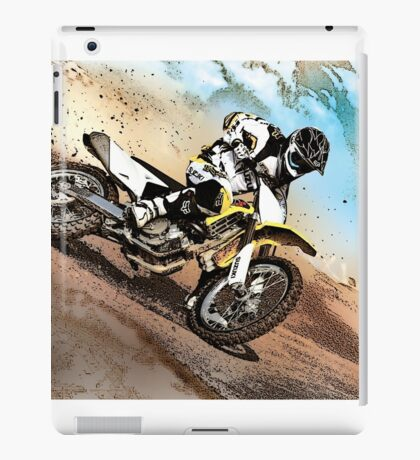 Graphically altered dirt biker  iPad Case/Skin