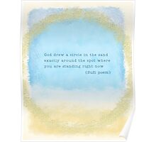 Circle in the Sand - Eat Pray Love Quote Poster