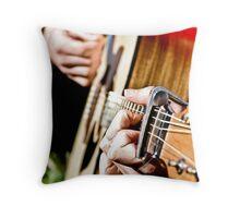 Sunny Guitar Throw Pillow